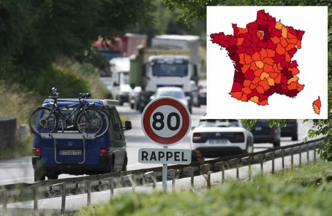 Where in France are the countryside roads the most dangerous?
