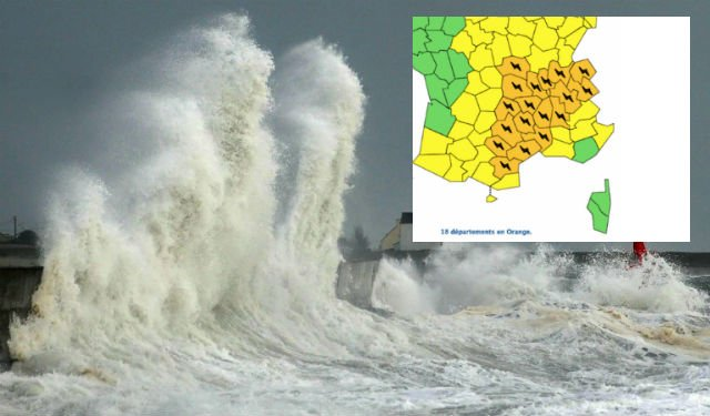 Violent thunderstorms, hail and 80km/h winds to hit central and southern France