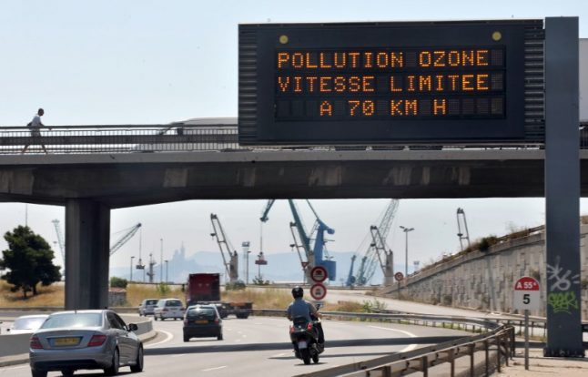 Areas of France on alert for air pollution spike as heatwave continues