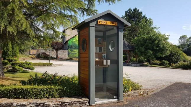 French village opens up 'world's smallest' tourist office... in a phone box