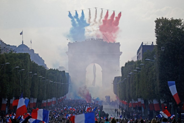 In Pictures: France's World Cup winners given heroes' welcome in Paris