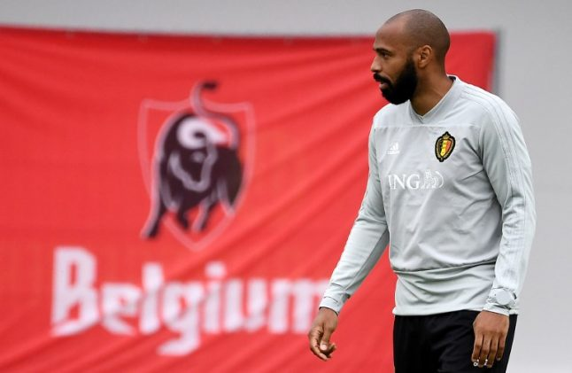 France ruffled by Thierry Henry's presence among Belgian ranks