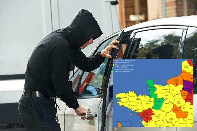 Where in France you are most (and least) likely to have your vehicle stolen