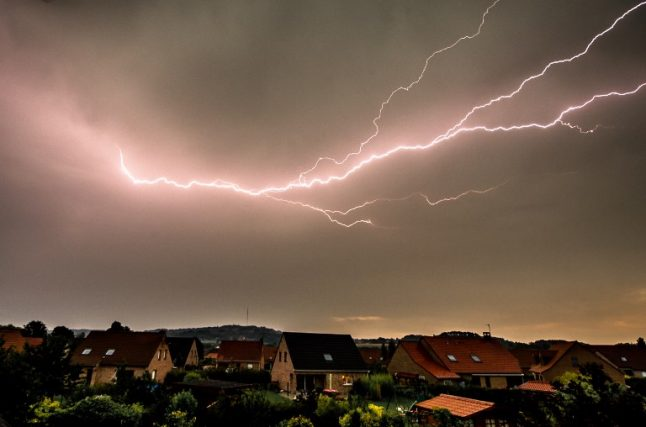 British couple hit by lightning during violent storm in France