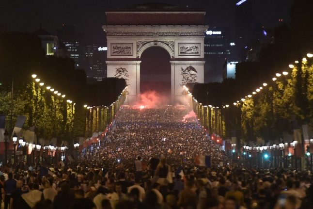 In Pictures: France goes wild as Les Bleus reach World Cup final
