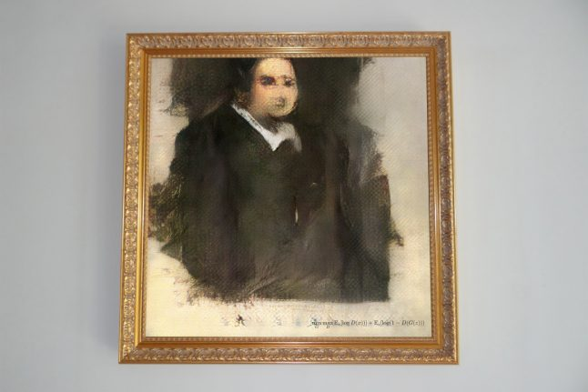 France's robot artist first to create AI painting sold at auction