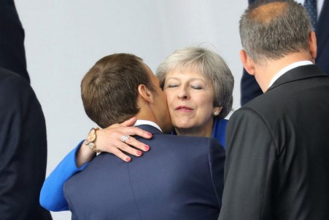 Brexit on the menu when May dines with Macron on Friday