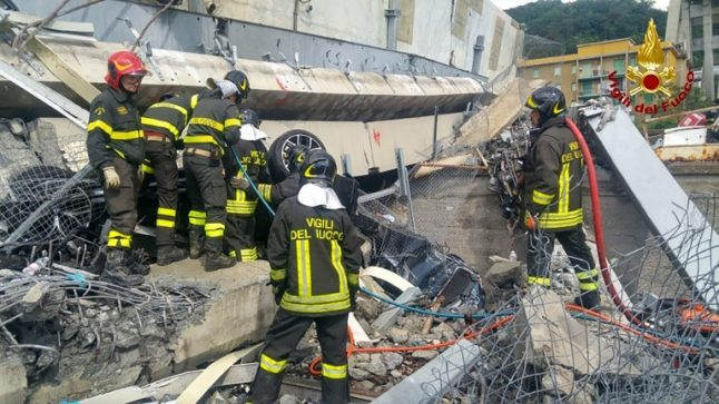 Update: Four French dead in Italy bridge collapse tragedy