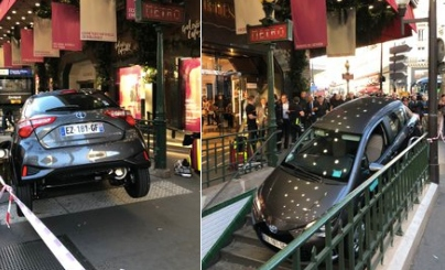 Another distracted driver mistakes Paris Metro station for car park