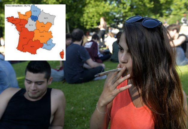 Map: Where in France teens are most likely to drink and take drugs