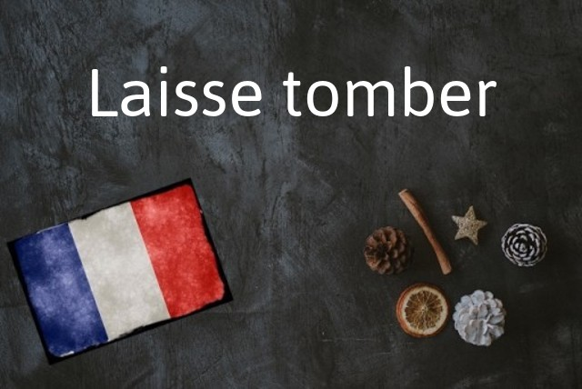 French phrase of the Day: Laisse tomber