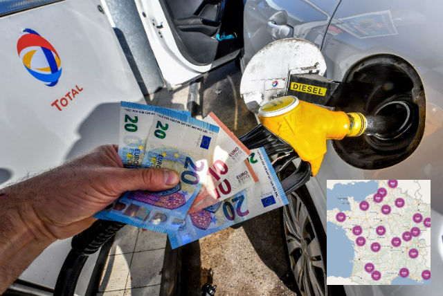 As prices soar here's where to find the cheapest fuel in France