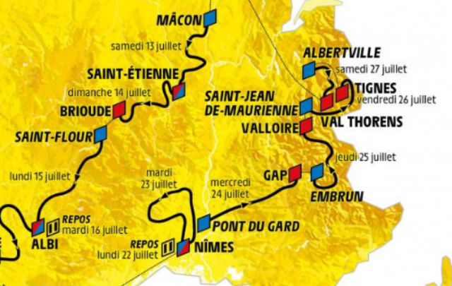 'Highest in history': Discover the route for the 2019 Tour de France