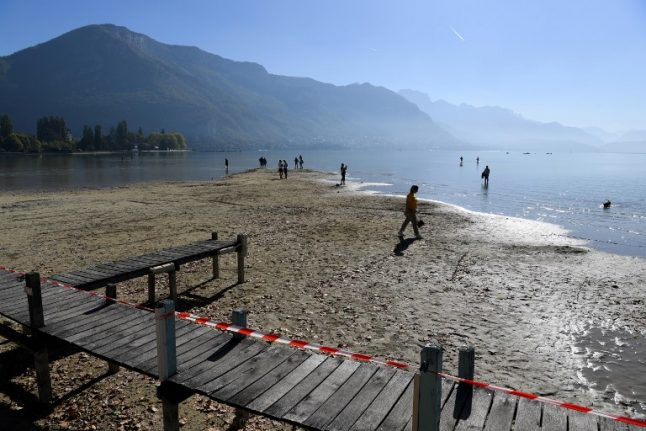 IN PICS: See how Lake Annecy's water levels have dropped to lowest in 70 years