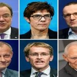 Who are Merkel's possible successors as CDU party chief?