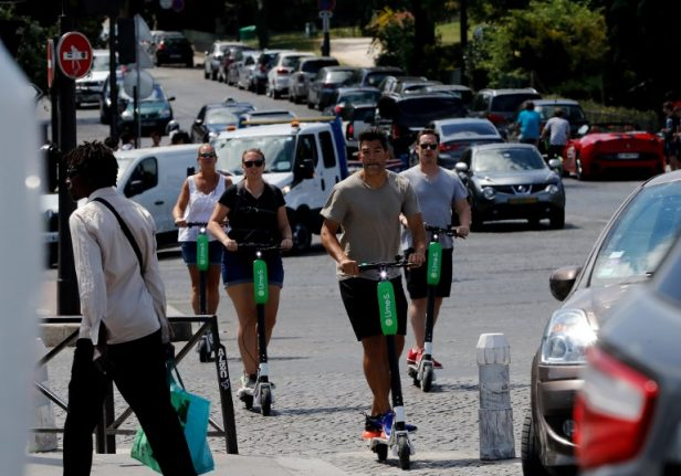 Riding an electric scooter on the pavement will soon be illegal in France