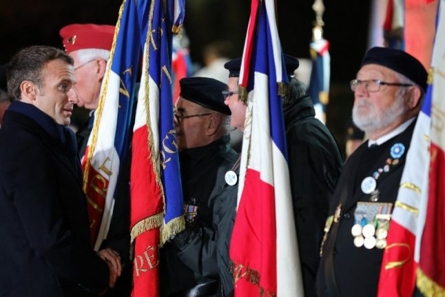 Did far-right group plan to attack Macron at World War One event?