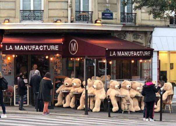 In Pictures: Frenchman drafts in giant teddy bears to cheer up Parisians