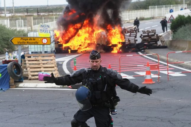 France hit by fifth day of road blocks as second death is confirmed