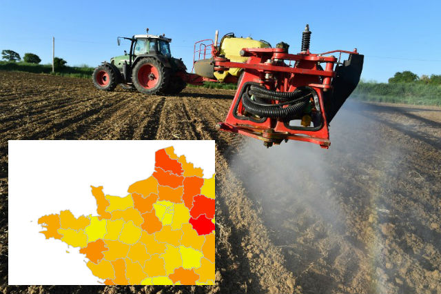 Map: In which part of rural France are the most pesticides used?