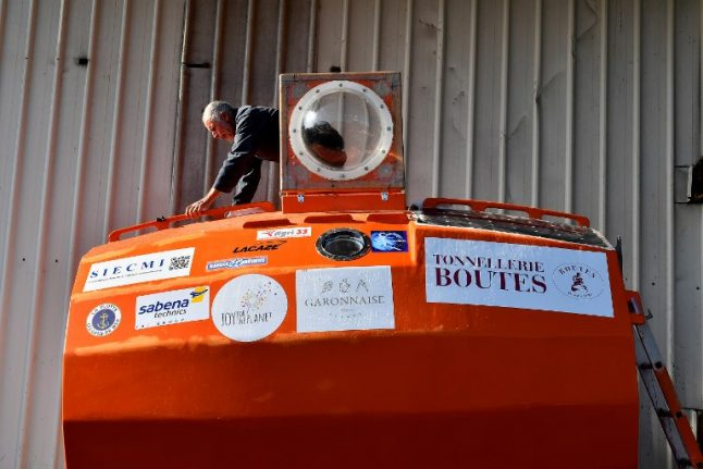 71-year-old Frenchman sets sail across Atlantic... in a barrel