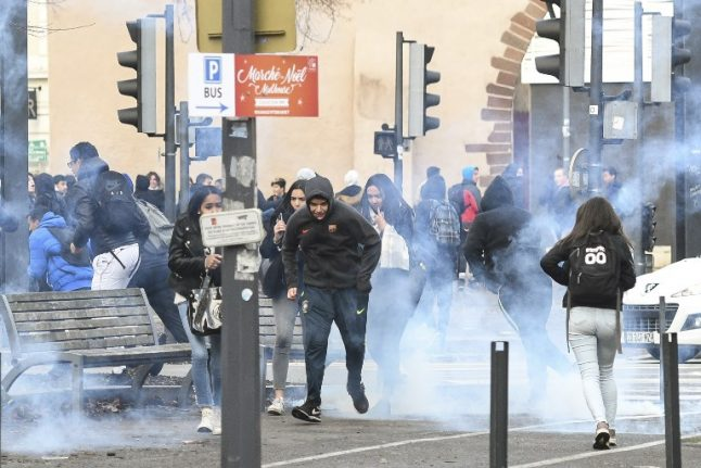 'Black Tuesday': French high school students hit the streets in protest again