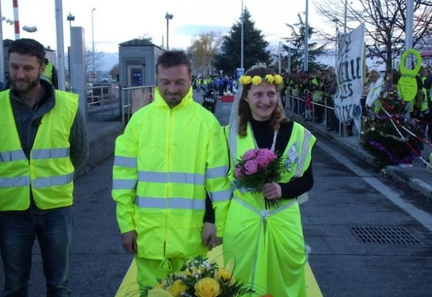 Love on the front line: 'Yellow wedding' a neon silver lining in a time of crisis