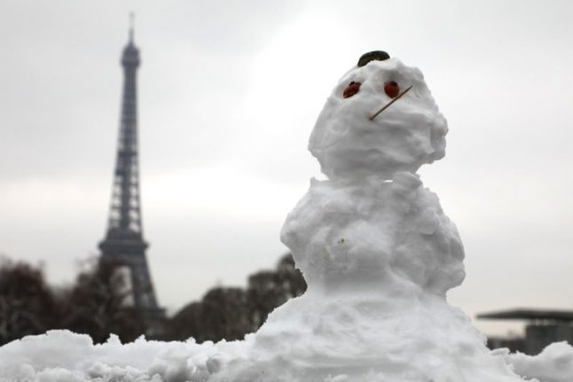 Will anywhere in France get a white Christmas this year?