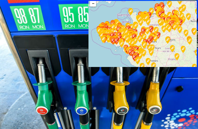 Map: Fuel shortages hit France and leave motorists in Brittany running on empty