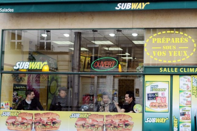 Which towns in France are the most in love with fast food?