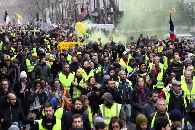 'Yellow vests' back on France's streets to challenge Macron