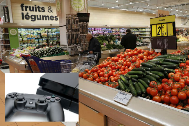 How a French teenager paid €9 for a Playstation using supermarket's fruit and veg scales