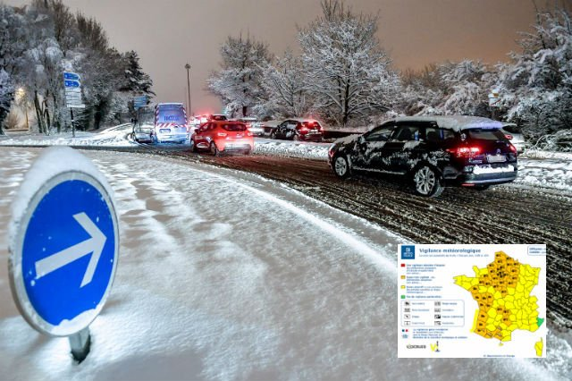 Storm Gabriel: Swathes of France on alert for violent winds, snow and ice