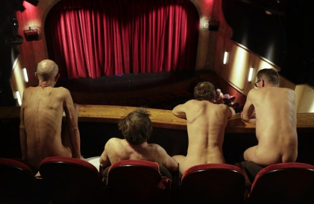 In Pictures: The Paris theatre show that forced the audience to strip naked