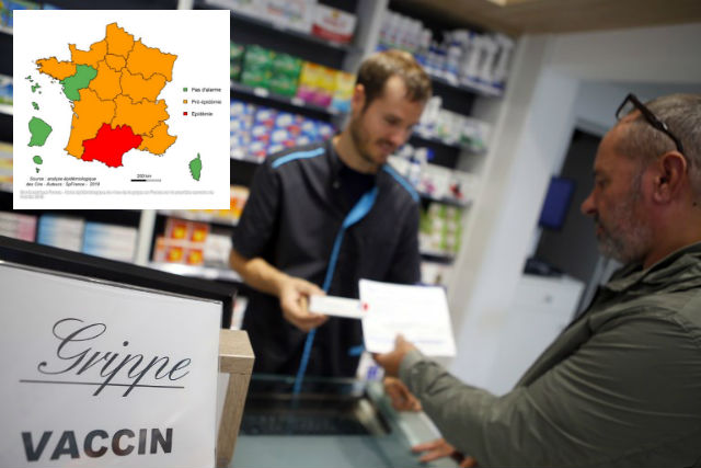 French health chiefs on alert as south west hit by flu epidemic