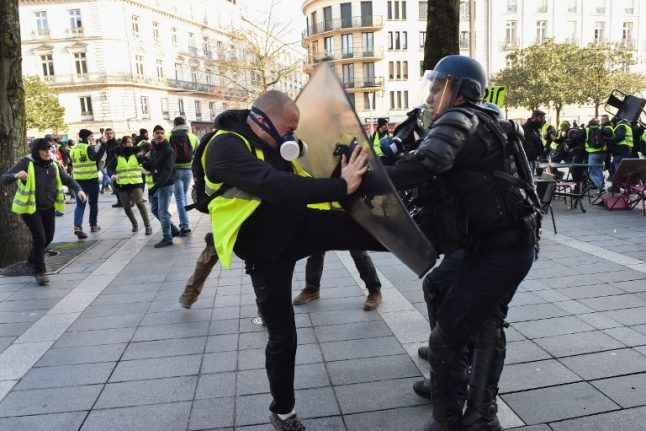 Battle of the kitties: Exhausted French police versus injured yellow vests