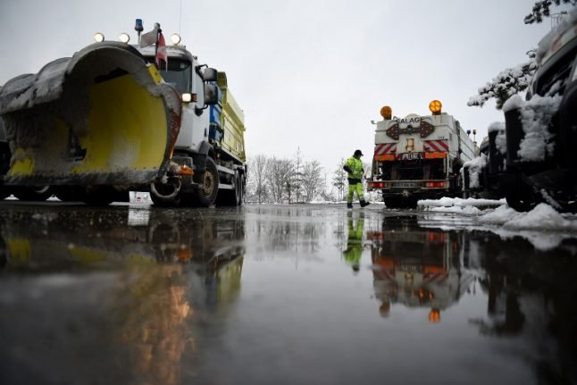 In Pictures: Snow causes transport disruption across northern France