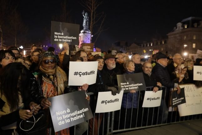 'That's enough': Thousands protest in Paris against anti-Jewish attacks