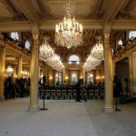 From gilt to grey, Paris Elysee hall gets subdued makeover