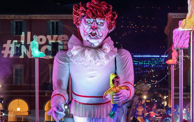 The best pictures from the Nice Carnival (featuring Donald Trump as an evil clown)