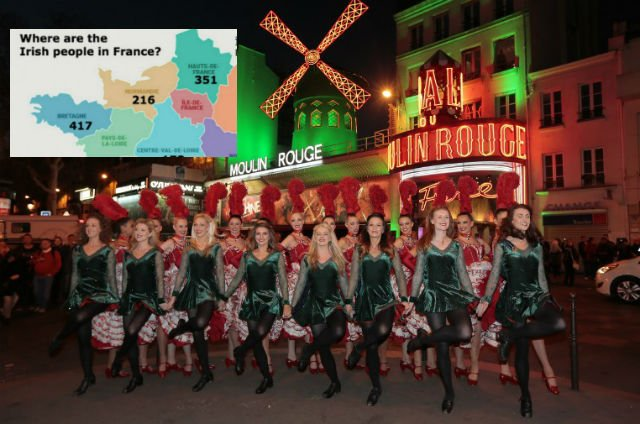 So where do all the Irish live in France?