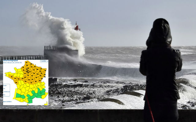 Storm Freya: Swathes of France on alert for gale force winds