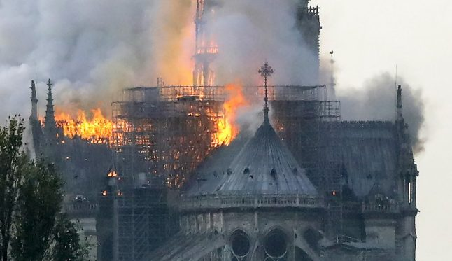 IN PICTURES: Spire collapses as massive blaze tears through Notre-Dame cathedral