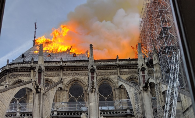 Notre-Dame fire: 'We were given just minutes to get out'