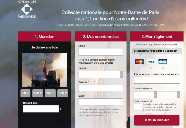Beware of fake appeals for Notre-Dame