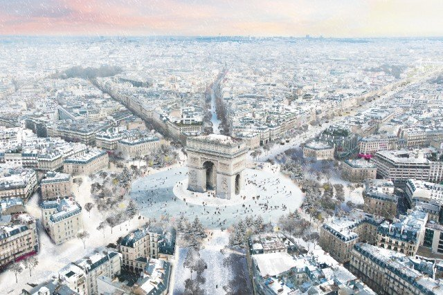 In Pictures: Plans to build an ice rink around Paris' iconic Arc de Triomphe