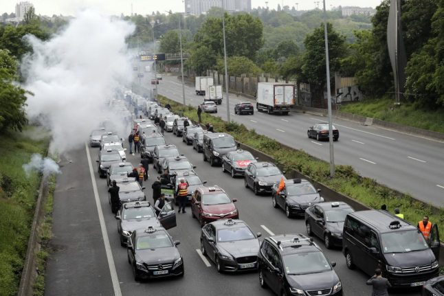 What is the protest by French taxi drivers, driving instructors and ambulance workers all about?
