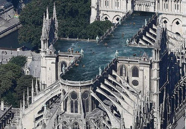 Fancy taking a dip in a Paris pool on the roof of Notre-Dame?