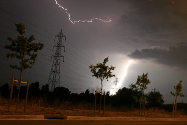 IN PICTURES: Violent hailstorms and 10,000 bolts of lightning hit France