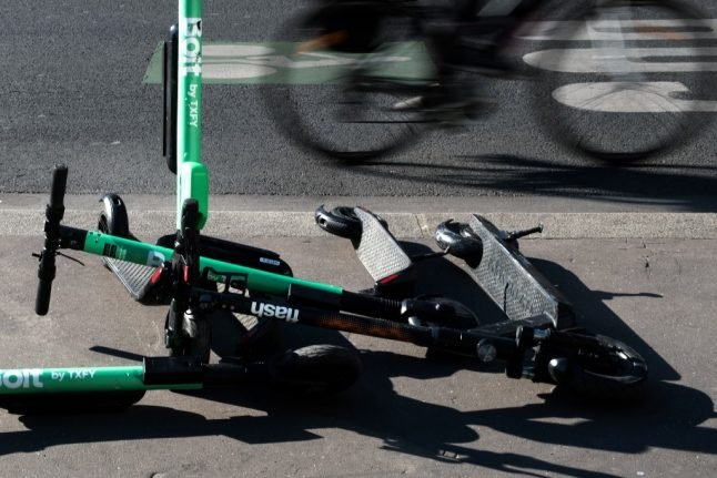 Paris to ban electric scooters from being left on pavements